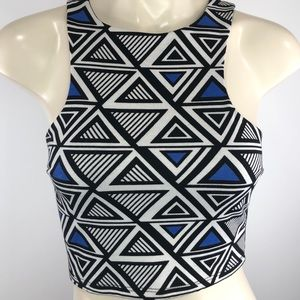 🌟Charlotte Russe bold cropped sleeveless tank S